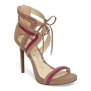 Jessica Simpson Pink Suede Cage Sandals 8.5 New